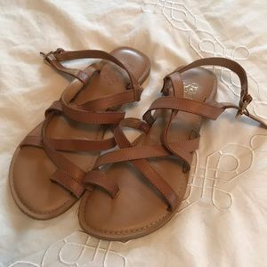 Franco Sarto Tan Sandals Size 6